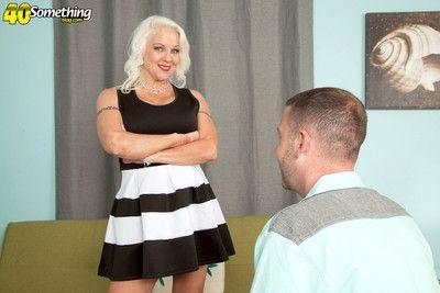 Hot granny veronica vaughn craving younger cock to fuck