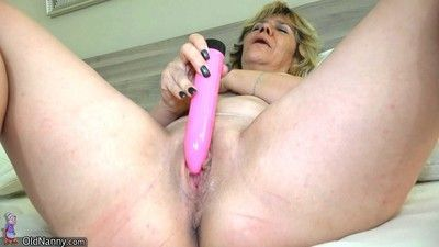 Older lesbians playing with huge dildos and toys