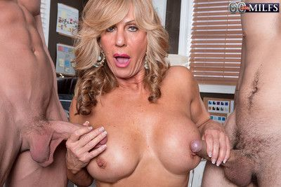 Granny slut loves being fucked by two cocks