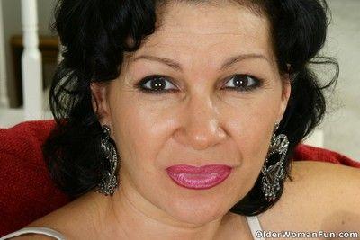 Luscious grandma rebecca lowers her panties