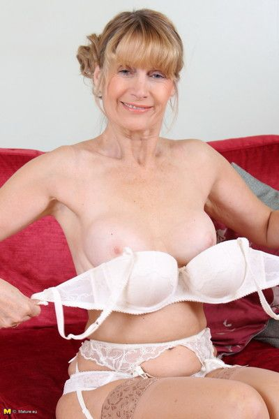 Horny british housewife playing by herself