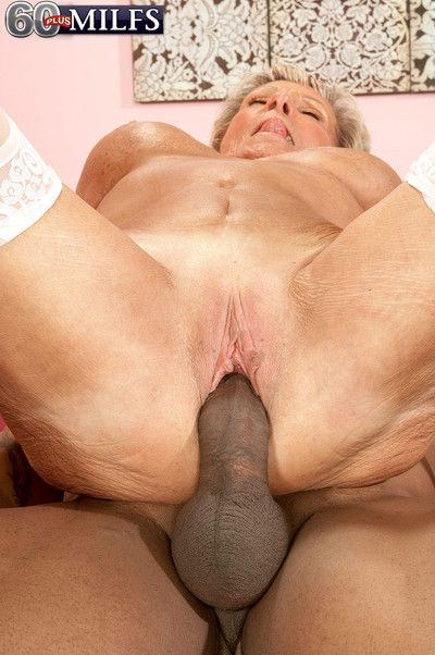 Black cock for a 70something milf