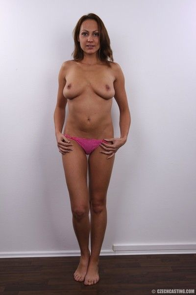 Hot milf with large boobs poses