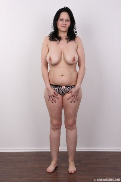 Chubby milf with large breasts