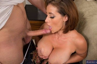 Huge titted milf loves wild fucking action