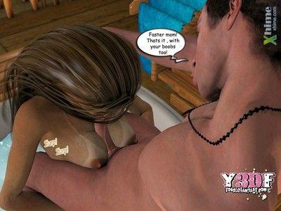 Y3DF- Sauna with mom - part 3