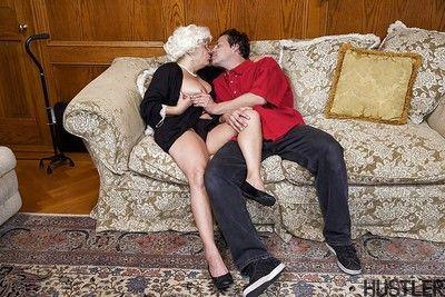 Granny model Karen Summer rides younger man\