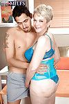 Storng encounter with a young dick for mature with huge tits Lin Boyde