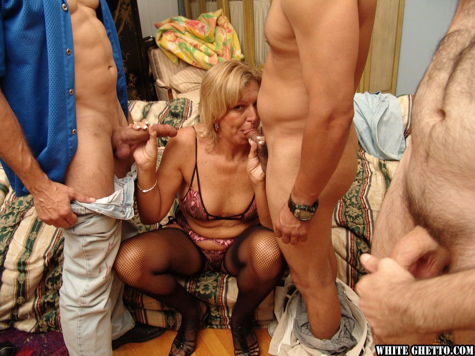 Starving cuckold milf with hired black bull hotel party