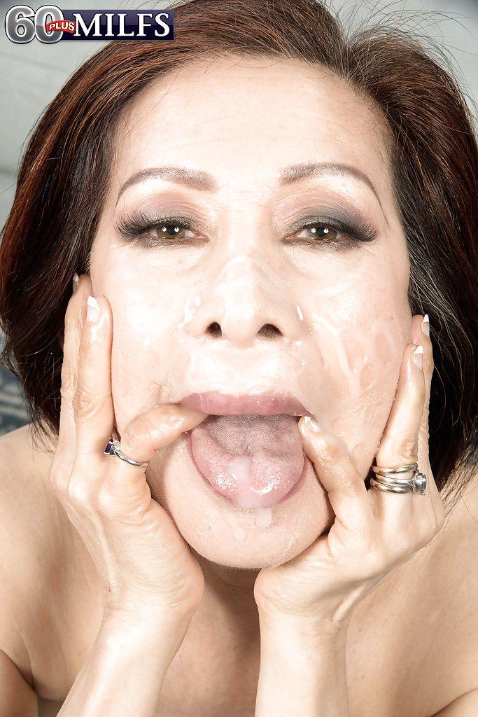 Asian mature facials