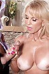 Buxom blonde granny Cara Reid giving bj before hardcore fucking and cumshot