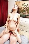 Brunette granny Marie has her old pussy fucked hardcore in close up