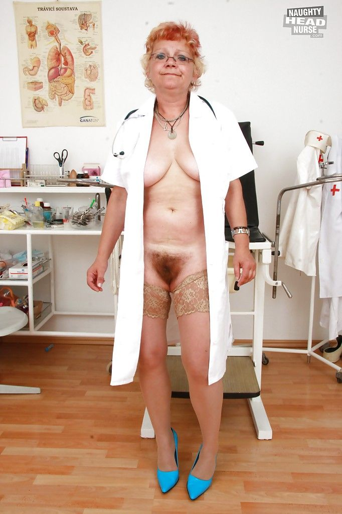 Mature men in nursing uniforms consider, that