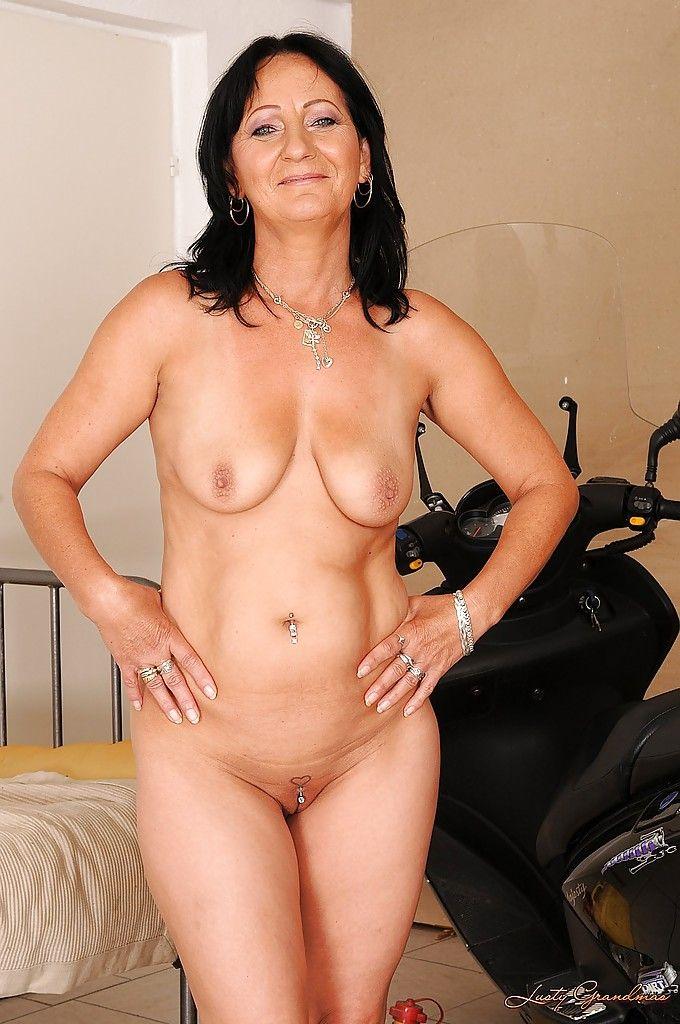 porn panty Mature brunette