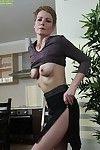 Skinny mature blonde Sweet Nensy fingering gaped anus and vagina