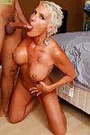 Short haired older mom Lexy Cougar taking hardcore fucking of shaved vagina