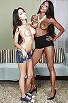 Awesome babes Diamond Jackson and Trinity StClair are posing naked