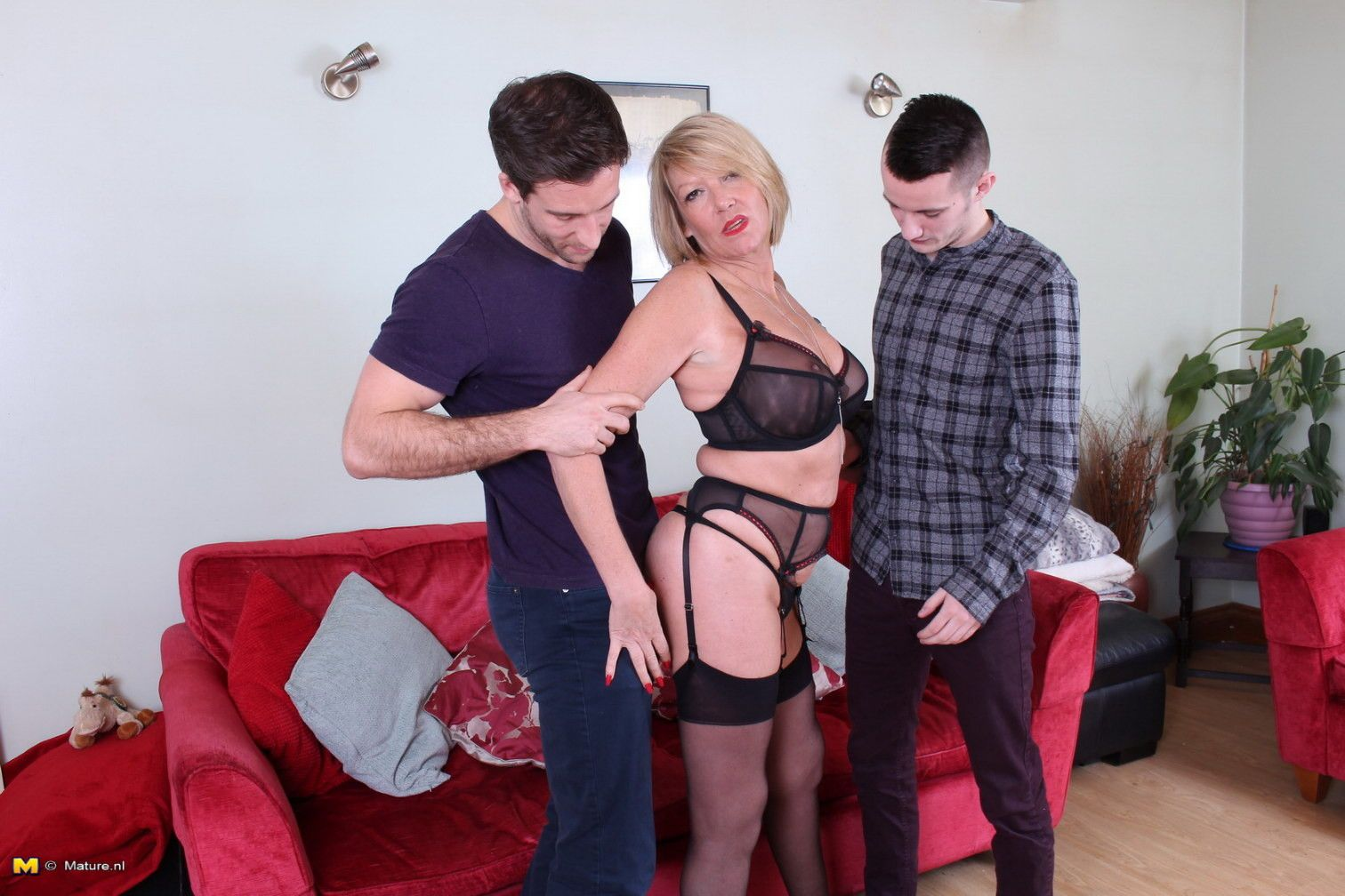 Horny milf and the dudes