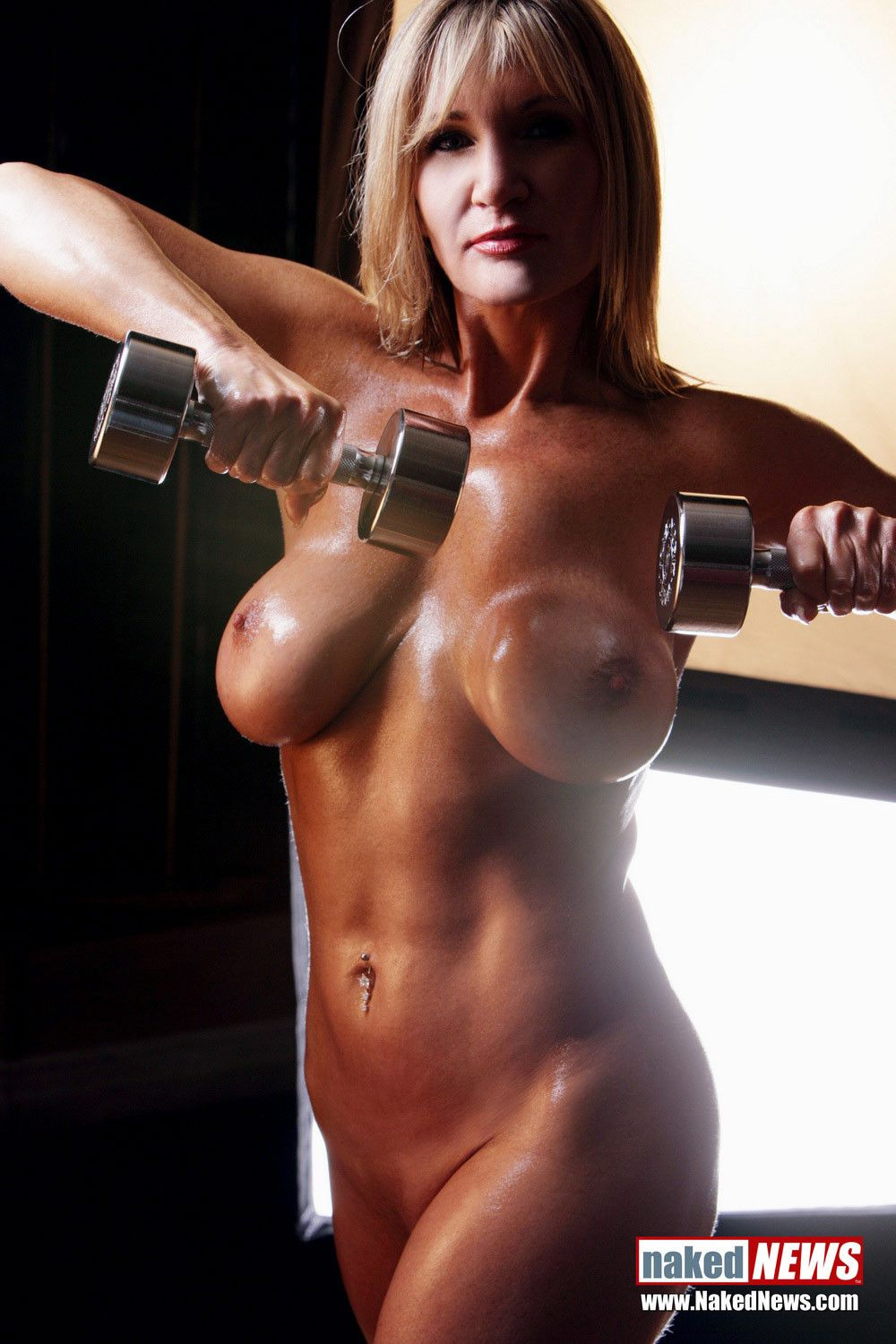 Sexy milf working out