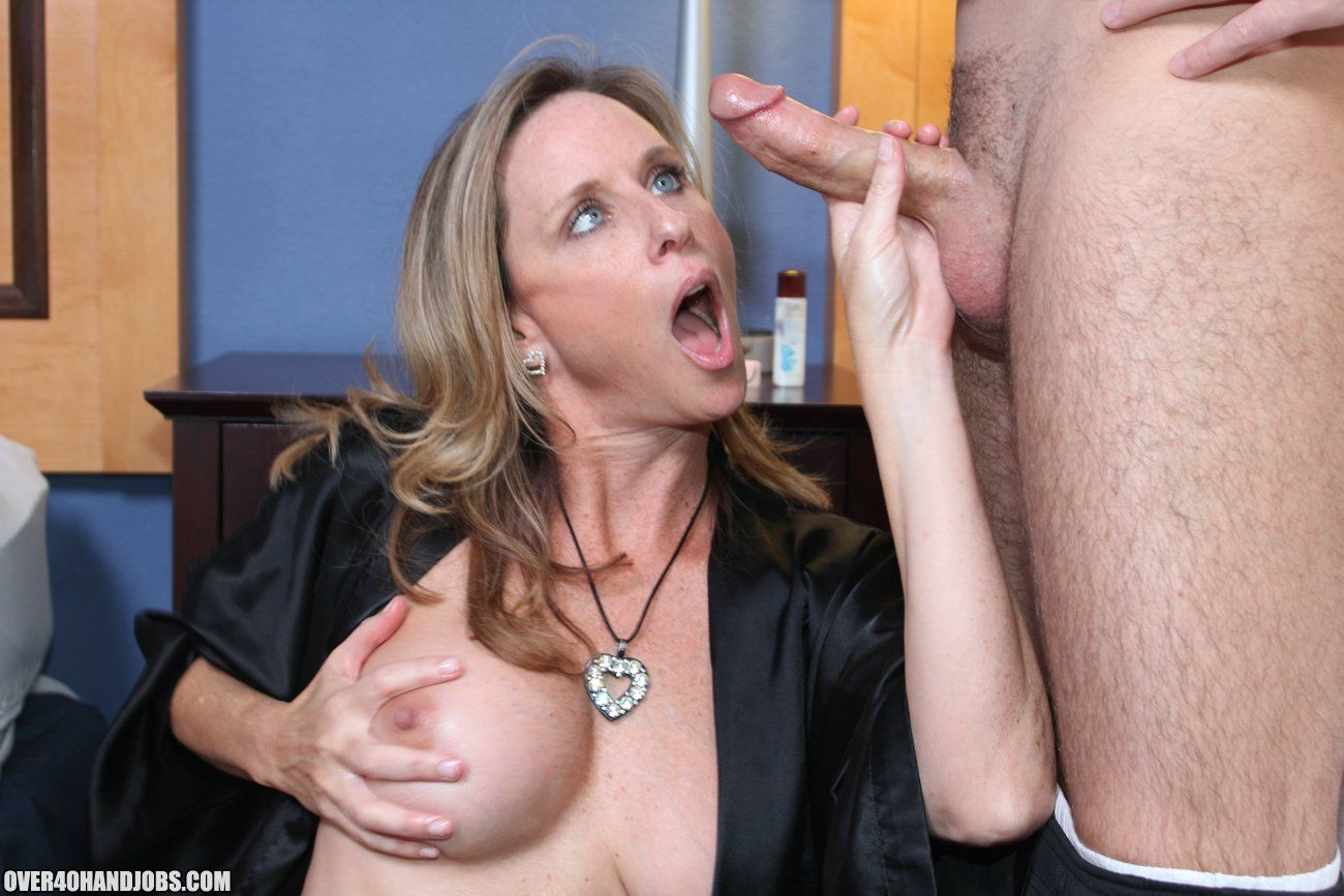 sexy over 40 milf jodi west jerks off and handjobs joey at mature