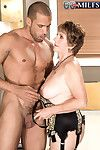 Horny granny bea cummins doing a stiff young dick