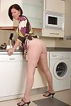 British milf julie lowers her panties