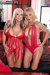 Mature threesome pictures with two old vixens