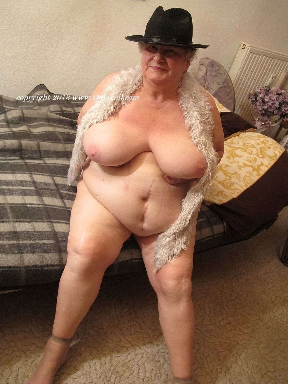 Busty old lady