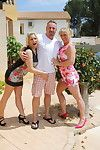 Two bisexual german housewives share one guy
