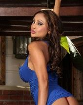 Beautiful Indian goddess, Priya Anjali Rai, looks fabulous in her stingy blue dress showing missing her big tits and smoking hot body!
