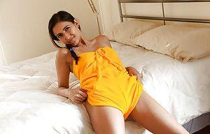 Dour teen layman Vijaya Singh having fun and exposing herself