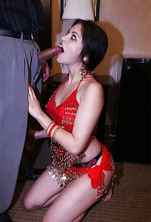 Slutty indian gal gives a blowjob and gets their way gradual cunt slammed hardcore
