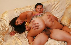 Slutty indian comprehensive gives a blowjob and gets her bushy cunt drilled hardcore
