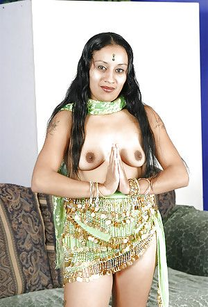 Lusty indian babe unearthing her small tittiess and muted cunt