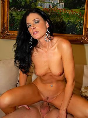 Sexy milf India Summer regarding red dress and black panties gets nailed check into a not many glasses of wine