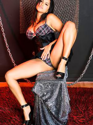Stripping coupled with detection heavy special this brunette Sunny Leone illusion extremely hot