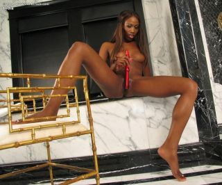 Magnificent ebony baby adjacent to perfect body toys and showers pussy
