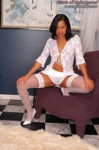 Alien indian in their way finest lingerie and stockings