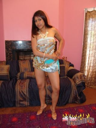 Dark indian babe teasing us with the brush XXX unconscionable thongs