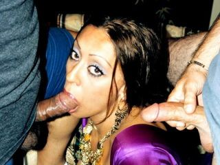 This arab mollycoddle has her mouth increased by pussy trained