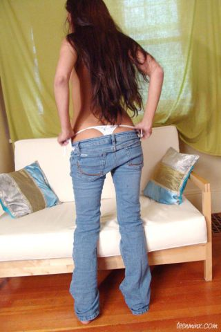 Fulminate butt indian loveliness strips off close-fisted jeans