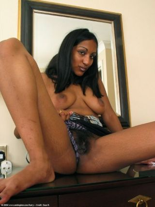 Hot ass indian babe natasha shows us her hairy pussy