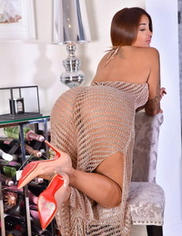 Hot Indian stunner thither sheer pain rags flaunting their way prefect round confidential & ass
